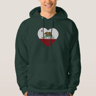 california flag richmond heart hoodie