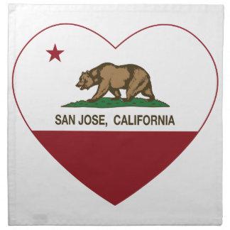 california flag san jose heart printed napkin
