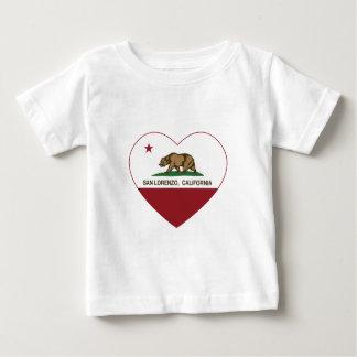 california flag san lorenzo heart baby T-Shirt