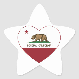 california flag sonoma heart star sticker