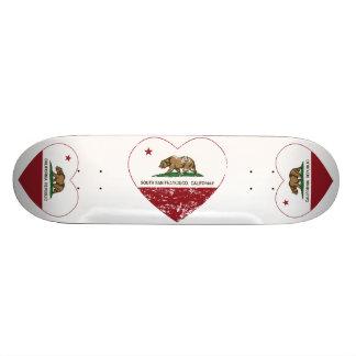 california flag south san francisco heart skate board