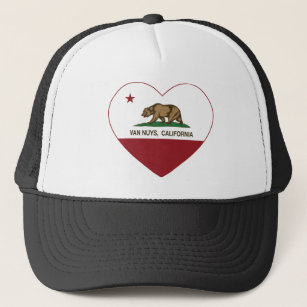 1c7a7e2f0d2 california flag van nuys heart trucker hat