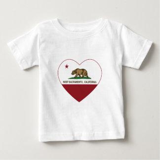 california flag west sacramento heart baby T-Shirt