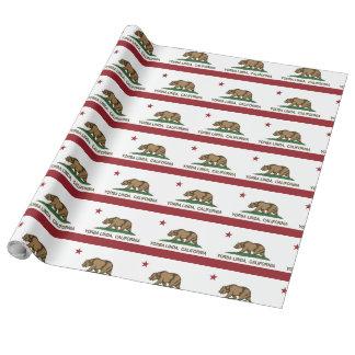 California Flag Yorba Linda Wrapping Paper