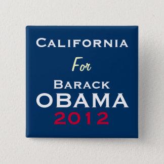CALIFORNIA For OBAMA 2012 Campaign Button