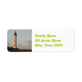 California Lighthouse Return Address Label