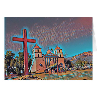 California Mission Santa Barbara Card