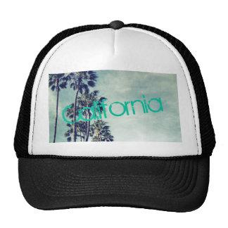California Ocean Palm Trees Trucker Hat