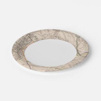 California, Oregan, Utah, New Mexico Paper Plate