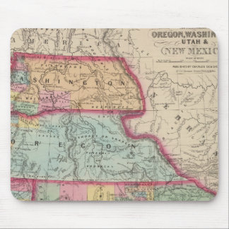 California, Oregon, Washington, Utah, New Mexico 2 Mouse Pad