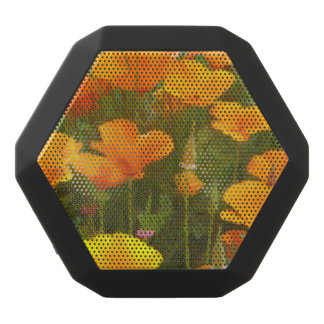 California Poppies Art Black Bluetooth Speaker
