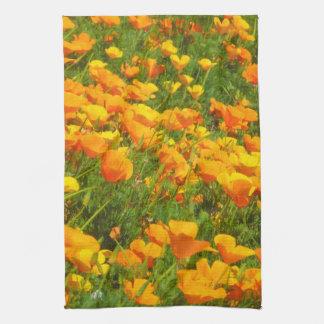 California Poppies Tea Towel