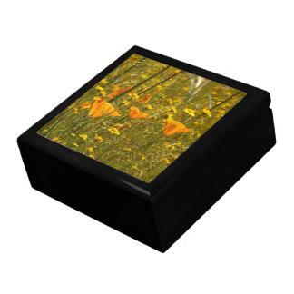 California Poppy Flower Floral Wildflower Gift Box