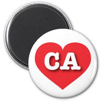 California Red Heart - Big Love 6 Cm Round Magnet