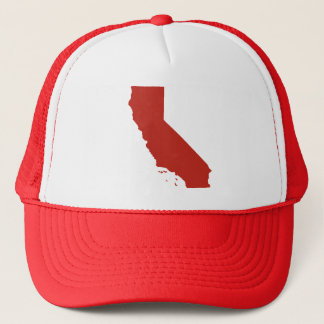 California Red Snap Back Mesh Trucker Hat
