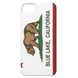 California Republic Blue Lake Flag Barely There iPhone 5 Case