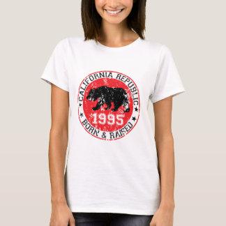 california republic born raised 1995 T-Shirt