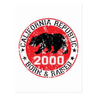 california republic born raised 2000 postcard