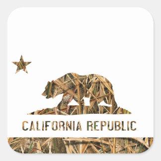 California Republic Camo 2 Square Sticker