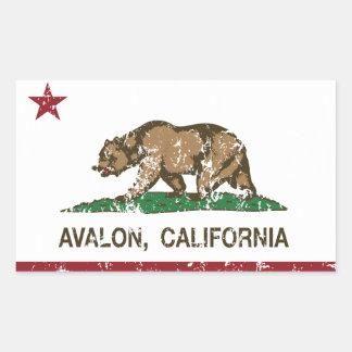 California Republic Flag Avalon Rectangular Sticker