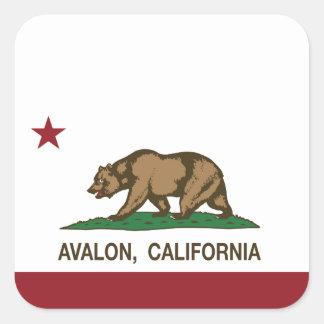 California Republic Flag Avalon Square Sticker