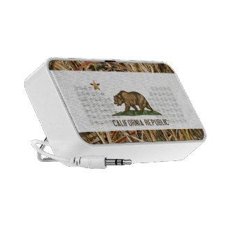 California Republic Flag Bear Camo Mini Speakers