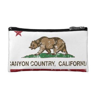 California Republic Flag Canyon Country Makeup Bag
