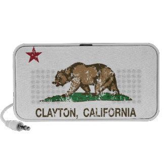 California Republic Flag Clayton iPod Speakers