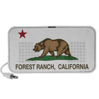 California Republic Flag Forest Ranch PC Speakers