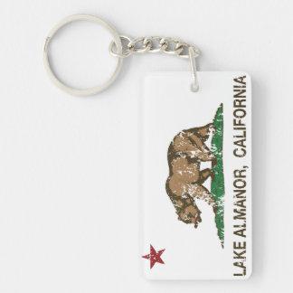 California Republic Flag Lake Almanor Double-Sided Rectangular Acrylic Key Ring