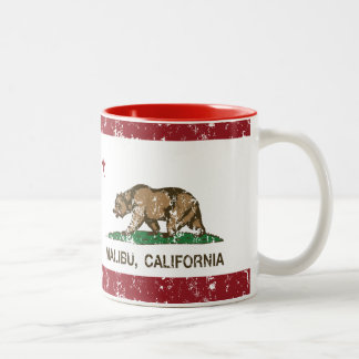California Republic Flag Malibu Two-Tone Coffee Mug
