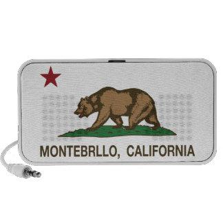 California Republic Flag Montebrllo Travelling Speaker