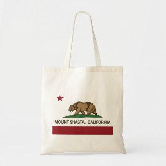 California Republic Flag Mount Shasta Canvas Bag