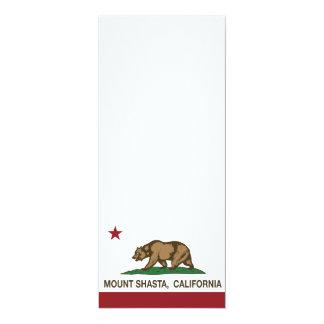 California Republic Flag Mount Shasta Personalized Invitation