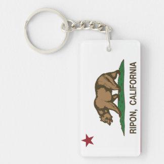 California Republic Flag Ripon Key Ring