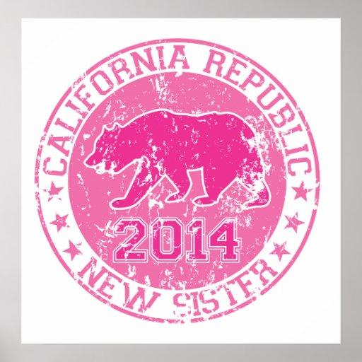 california republic new sister pink 2014 print