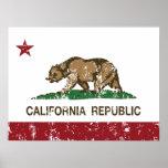 California Republic State Flag Poster