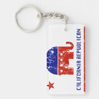 california republican distressed key ring