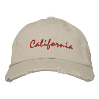 California simple text rough hat