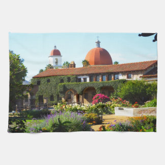 California Spanish Mission Church Kitchen Towels