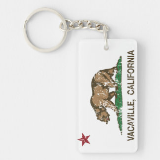 California Stat Flag Vacaville Key Ring