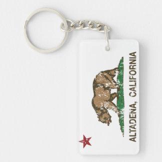 California State Flag Altadena Key Ring