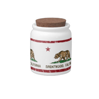 California State Flag Brentwood Candy Jar