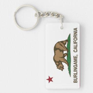 California State Flag Burlingame Key Ring