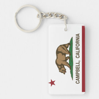 California State Flag Campbell Double-Sided Rectangular Acrylic Key Ring