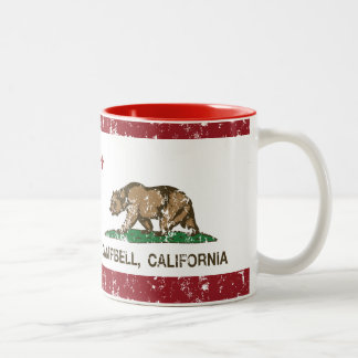 California State Flag Campbell Two-Tone Coffee Mug