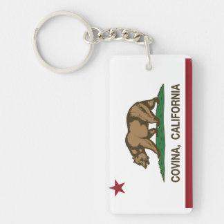 California State Flag Covina Double-Sided Rectangular Acrylic Key Ring
