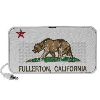 California State Flag Fullerton Portable Speakers