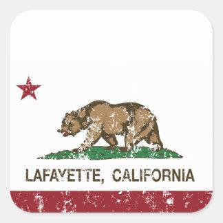 California State Flag Lafayette Square Sticker