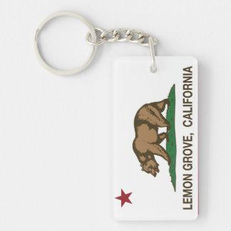 California State Flag Lemon Grove Key Ring